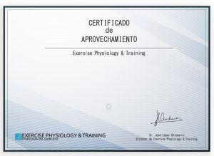 Certificado de aprovechamiento